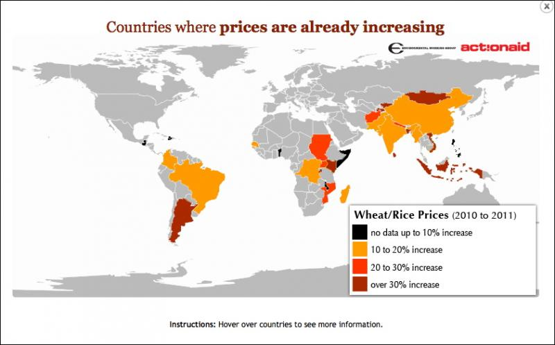food price increase map